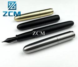 MOQ 100PZ per produzione personalizzata penna per Fontana in titanio/Ottone/rame/alluminio Logo personalizzato Penna a rullo, penne in metallo realizzate su misura