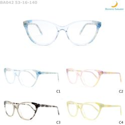 El bastidor de laminación de última moda gafas de óptica de acetato de mujer