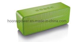 Dell'altoparlante senza fili di multimedia FM mini OEM/ODM Bluetooth altoparlante forte mobile verde portatile della cassa di risonanza con riferimento al giocatore del caricatore