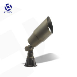 Le LT2101 50-watt en bronze d'éclairage basse tension en laiton Accent 1-lumière brillante 12V Spot Light & meilleure LED paysage feux pour le résidentiel