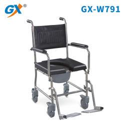 Транспорт туалет Ванная комната Commode инвалидная коляска для пациента Commode колеса стул в туалет