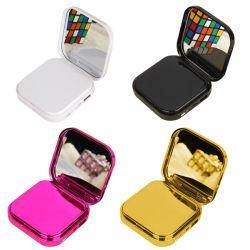 Portable makeup mirror Mini Banco de potência 10000mAh carregador USB Powerbank Telefone móvel