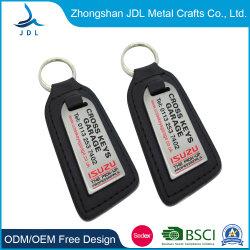 حلقة مفاتيح مجوهرات جلد مخصص مخصص مجوهرات بالجملة مع شعار الطباعة (031)