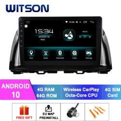 Android Witson 10 Aluguer de multimídia para Mazda 2013-2014 CX-5 baixo 4GB de RAM 64GB Flash grande ecrã no aluguer de DVD