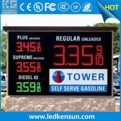 مؤشر LED أبيض/أحمر/أخضر السعر عرض 8 بوصات لمحطة البنزين مؤشر LED علامة السعر
