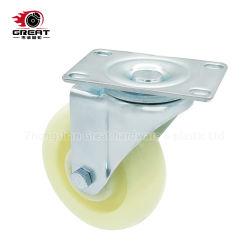 Medium Heavy Duty roulements a billes double Roulette industrielle PP, PG, fixe en PVC// frein de pivotement des roues pivotantes