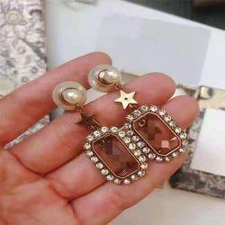 Горячая продажа высокое качество индивидуального разработчик популярной марки Vintage Crystal Earring серьги