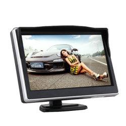 Pantalla LCD TFT HD de 5 pulgadas, monitor de visión trasera para coche Para pantalla de TV de coche con cámara de seguridad