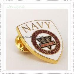 Conception personnalisée en usine le commerce de gros de l'insigne de l'émail dur de l'épinglette broche insigne militaire de la Marine américaine pour les cadeaux souvenirs