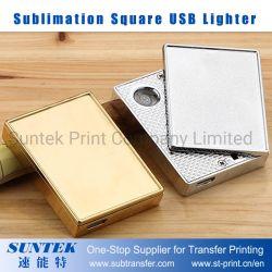 Sublimação de isqueiro USB quadrado em branco
