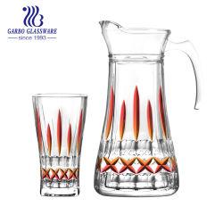 زجاجيّة إبريق زجاج وإبريق محدّد ماء إبريق مرطبان مع غطاء ماء زجاجيّة [درينك كب] يثبت ([غب12039إكسد-ب1])