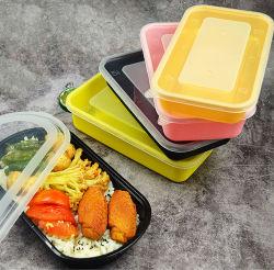 Triangle de forme ovale Babecue Boîte à lunch en plastique