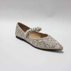 Entwurfs-Ballerina-Schuhe des Form-Ebene-Diamant-Frauen-Schuh-2021 Nizza