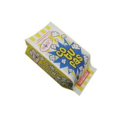 Emballage de sécurité repliable en gros, emballage personnalisé, qualité alimentaire, résistant à la graisse Sac en papier à popcorn à film réfléchissant pour micro-ondes