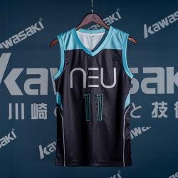 Konkurrenz-Trainings-Basketball-Uniform-Klage personifizierter Zoll der Männer mit Qualitäts-Stickerei-Zahl Jersey