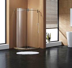 Frameless rouleaux coulissante en verre trempé salle de douche douche