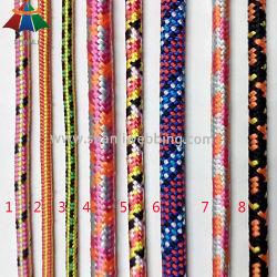 Commerce de gros élastique tressé/ polyester/coton/ polypropylène PP/// la corde de cordon en nylon