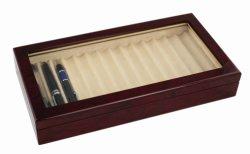Roswoodのピアノ終わりの木のペンの表示記憶包装ボックス箱