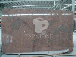 Rode Veelkleurige Countertops van het Graniet met Kwaliteit