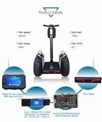 Цифровой ЖК-дисплей электрического баланса велосипед с двумя Бесщеточный двигатель