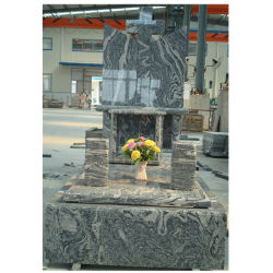 China Juparana G350 lápida de granito piedras naturales Monumentos de alta calidad