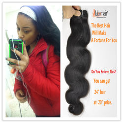 9A Natural Brazilian Virgin Hair 100% Human Hair Extension LBH 037