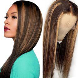 Commercio all'ingrosso Lace frontale 4/27 Highlight Lace Front Wig Human Hair Cina capelli Remy economici completo Wig Wig naturale brasiliano umano Maschere per capelli