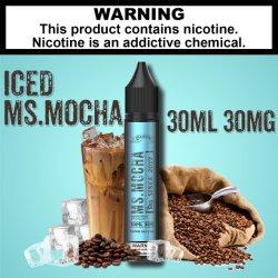 2021 Nouveau goût saveur Mme glacé Moka, naturels e-liquides, vapeurs liquides, vapeurs jus pour l'E-/fumée de cigarette