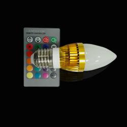 16 смены цветов фабрику и низкая цена AC 90-260В RGB со светодиодной лампы в форме свечи мощностью 3 Вт E27 светодиодная лампа настольная лампа с пульта дистанционного управления светодиодным освещением бесплатная доставка