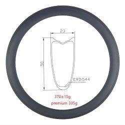Preisgünstige Rennrad leicht Carbon Thin Rim Set 700c 50mm Tubular mit Ud-Matt für 20h/24h Breite 23mm
