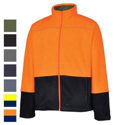 カラーによって接続される羊毛のジャケットの上のカスタマイズされたロゴの刺繍のジッパー