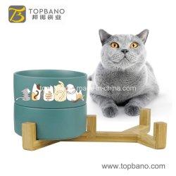 Regalo promocional mayorista de alimentos personalizado el tazón de agua Alimentador de mascotas perro gato cerámica Cuenco de la alimentación