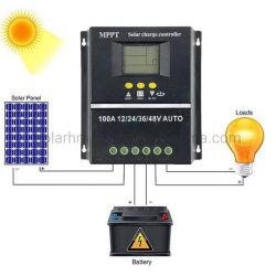 이중 USB를 가진 MPPT 60A 80A 100A 12/24/36/48V 시간 제어 등화관제 태양 관제사