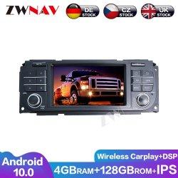 128 Go Carplay Android 10 l'écran sans fil lecteur multimédia pour Jeep Compass Wrangler Navi GPS Auto Radio audio stéréo de l'unité de tête