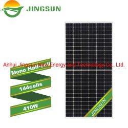 Haute efficacité cellule de demi-Cut Jingsun 400W 410W mono PV Perc panneau solaire pour la maison des cellules de prix