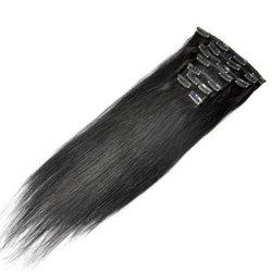 مشبك الشعر شعر شعر ناعم كالحرير الإنسان كامل المجموعة مشبك الرقم الداخلي