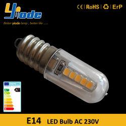 230V Edison elevada base de CRI 2W E14 LED da lâmpada indicadora de Branco Frio