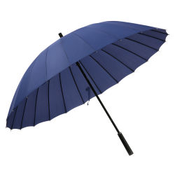 Costillas de 24K regalo clásico con logotipo personalizado paraguas recta