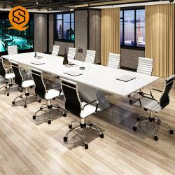 Hot vente Look en marbre Table de conférence Bureau a utilisé une surface solide Table de réunion de Bureau pour la vente