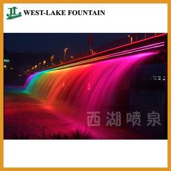 Rainbow fontaine cascade d'éclairage pour le grand pont