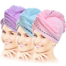 Волосы полотенцем, ткань из микроволокна быстрой сушки волос полотенца в ванной фен, ванна сушка волос полотенцем и быстрый осушитель Red Hat для женщин девочек