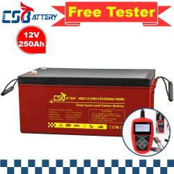 Csbattery 12V250ah Solar-Power-armazenamento AGM Bateria para Solar-Energy-Storage-System/Renewable-Energy/Golf-Cart/VS: Csb/Fortune