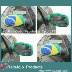 Brasil Coche Bandera Espejo
