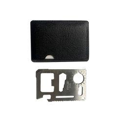 Het mini Multifunctionele Draagbare OpenluchtMes van de Creditcard voor Hulpmiddel van de Overleving van de Zak het Openlucht