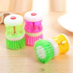 Spazzola del piatto della cucina con gli utensili di lavaggio del POT dell'erogatore del sapone liquido del piatto di pulizia della spazzola della casa di pulizia della cucina di plastica dei prodotti