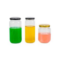 Contenitori di vetro del grande di 1000m dell'ostruzione 750ml del vaso del miele il vaso vaso rotondo di immagazzinamento in per impaccare