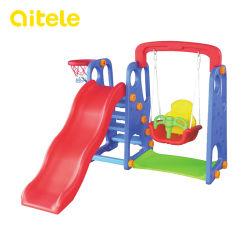 Indoor Babyslide Plastic Spielsets mit Schaukel (PT-041)
