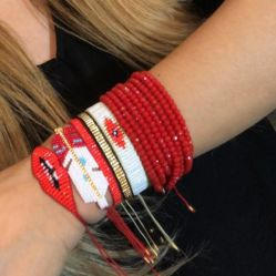 Mlgm Crystal Armband set voor dames Miyuki Pulseras Bead Turks Evil Eye Armbanden Juwelen Sexy Lips Friendship imitatie touw Piercing Sieraden cadeau