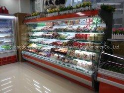 슈퍼마켓 Multideck 열려있는 냉각장치 전시 냉장고