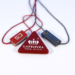 Preiswerter Großverkauf-geläufig Gebrauch-Form-weißer unbelegter Fall-Marken-Dichtungs-Verschluss-Plastikzeichenkette für Kleidung
